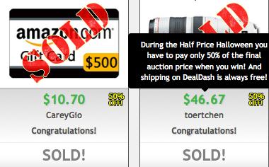 50% Off Sale on DealDash