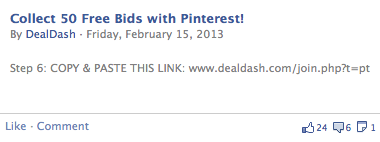 DealDash Free Bids Pinterest