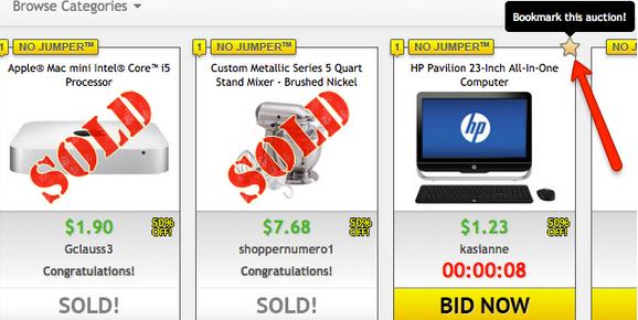 Bookmark Auctions