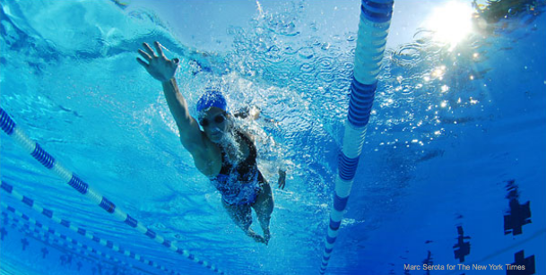 Olympic Medalist Dara Torres training in Coral Springs, Fla.