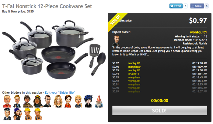 T-Fal Nonstick 12-Piece Cookware Set Discount Sale