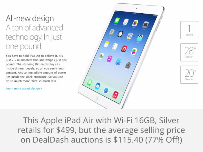 Apple iPad Air DealDash