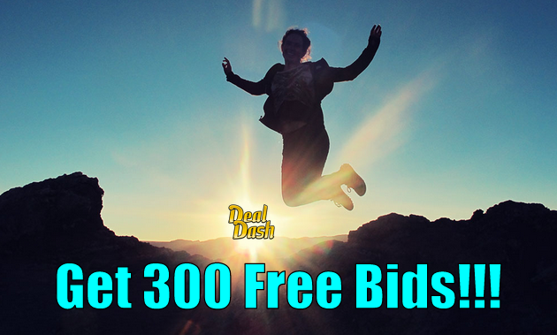 300 Free DealDash Bids
