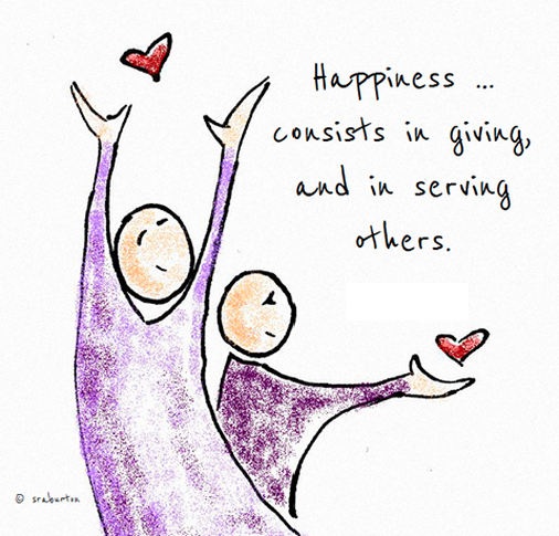 Happiness consists of giving